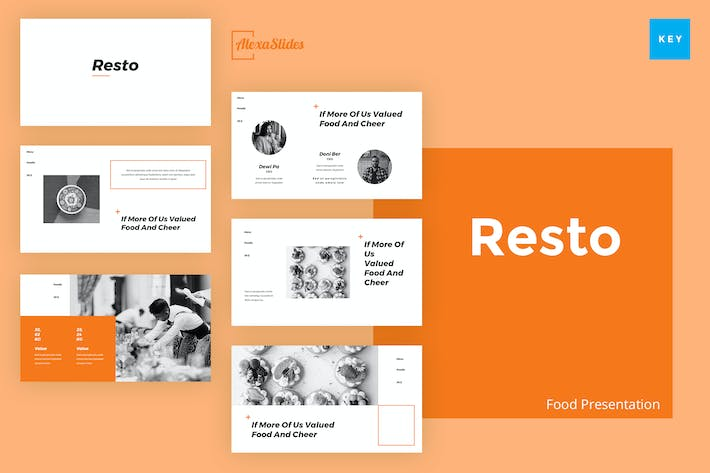 Thumbnail for Resto - Food Keynote Presentation Template