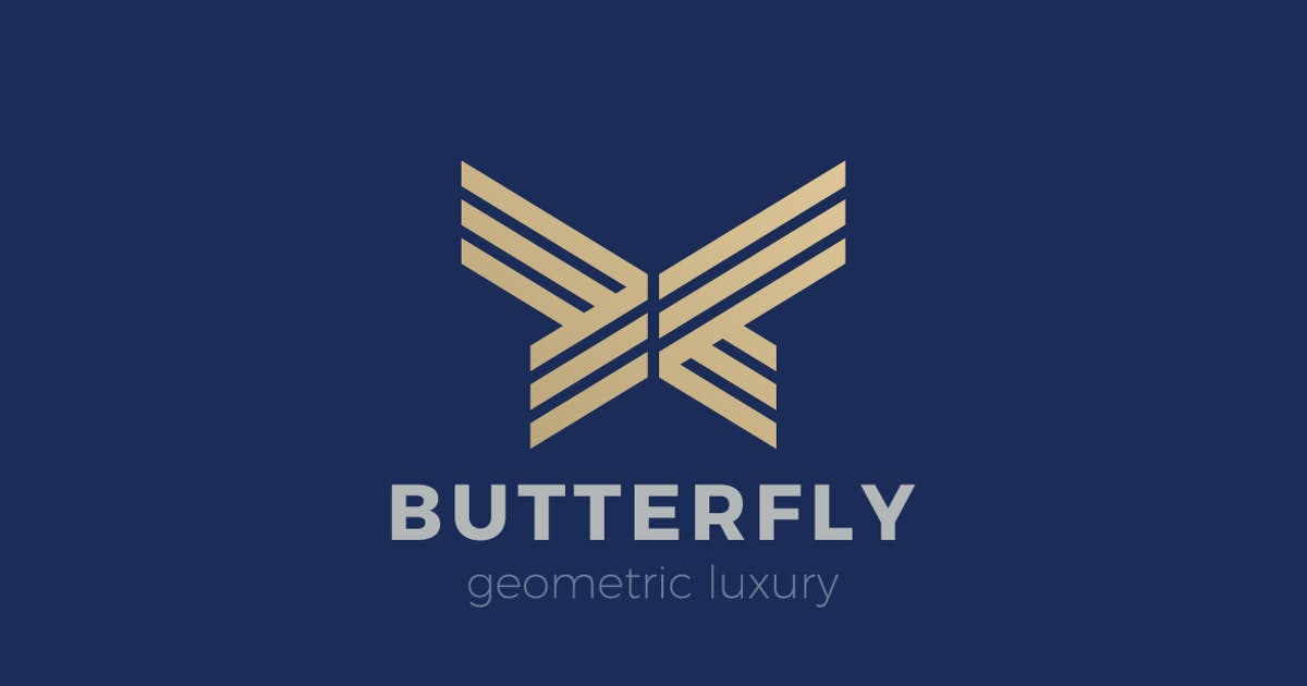 Download Logo Butterfly Geometric Luxury abstract Linear by Sentavio