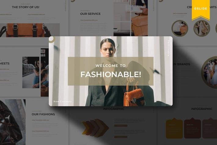 Модные | Шаблон слайдов Google