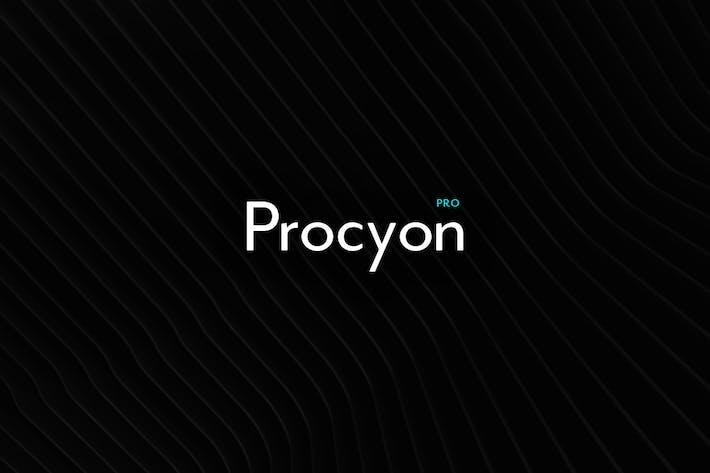 Thumbnail for Procyon - Modern Typeface + WebFont