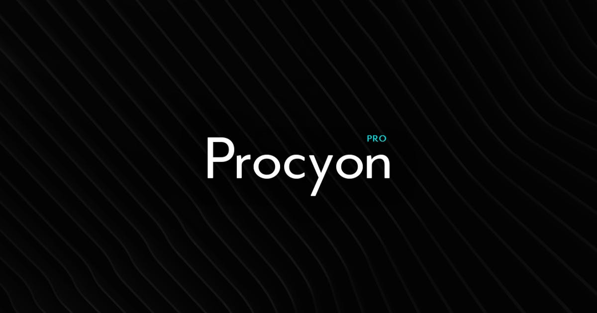 Download Procyon - Modern Typeface + WebFont by webhance