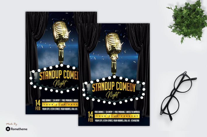 Thumbnail for Stand Up Comedy - Flyer MR