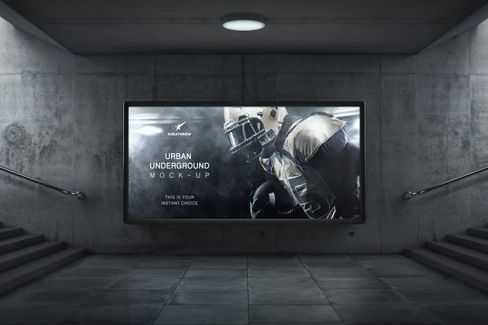 Thumbnail for Urban Underground Lightbox / Billboard Mock-Ups