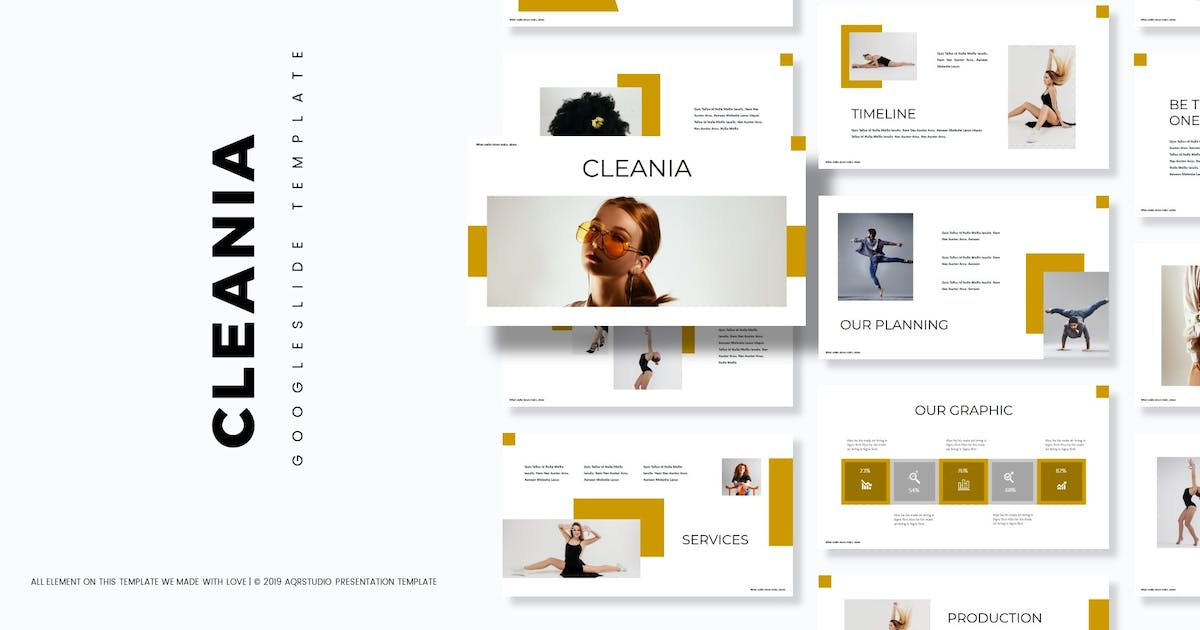 Download Cleania - Google Slides Template by aqrstudio