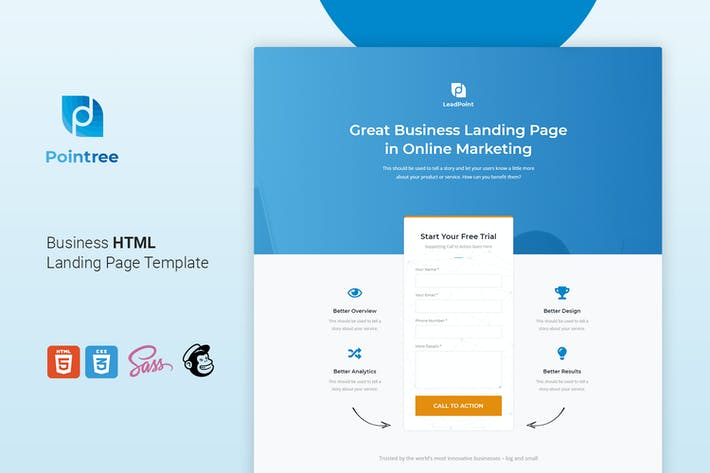 Thumbnail for Pointree - Business HTML Landing Page Template