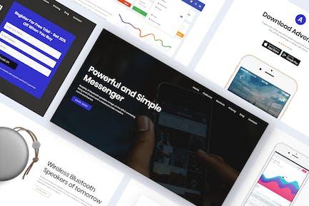 Onepage Digital Marketing WordPress Theme - Advent