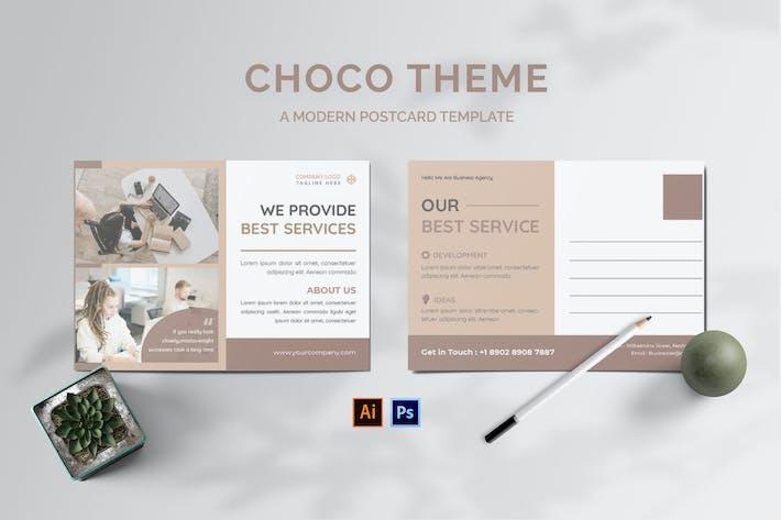 Thumbnail for Choco Theme Postcard