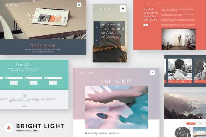 Thumbnail for Bright Light Multipurpose Creative Template
