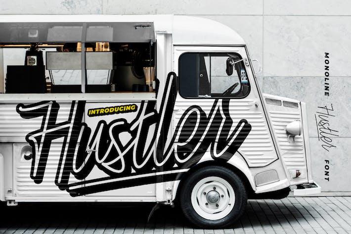 Thumbnail for Hustler - Monoline Font
