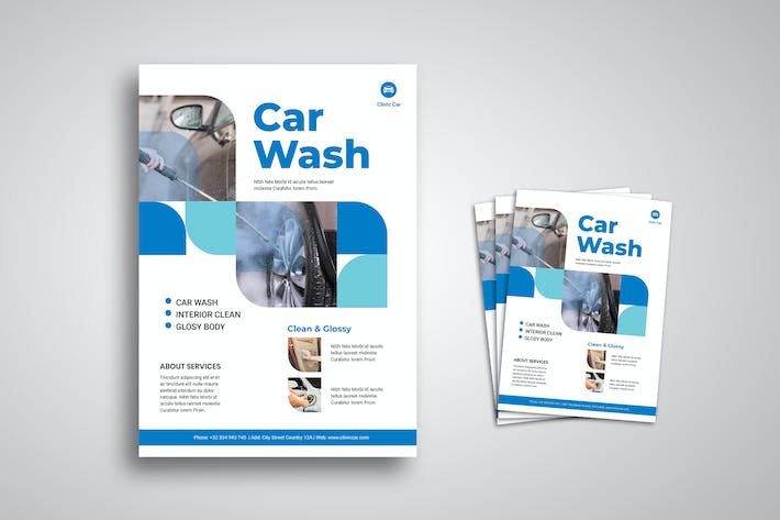 Thumbnail for Car Wash Flyer Promo Template