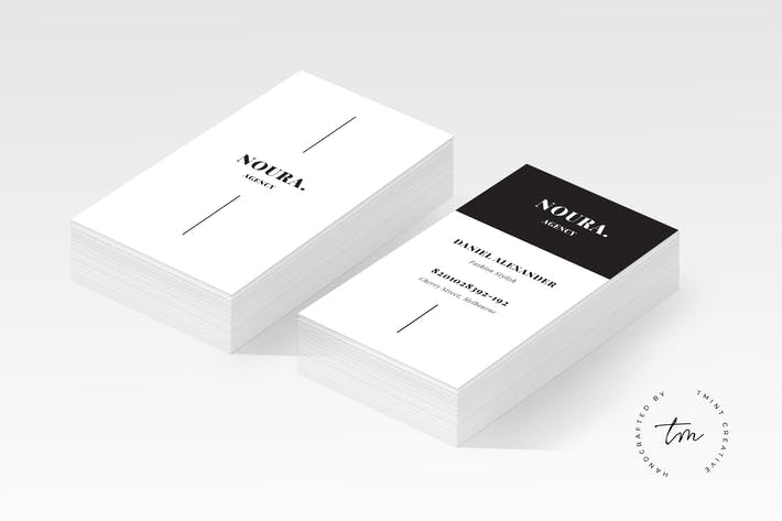 Download 6694 business card templates envato elements thumbnail for noura business card wajeb Images