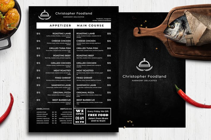 Thumbnail for Blackboard Food Menu. 29