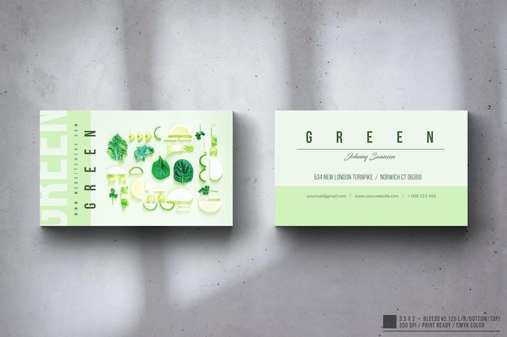 Thumbnail for Eco Green Visitenkarten-Design