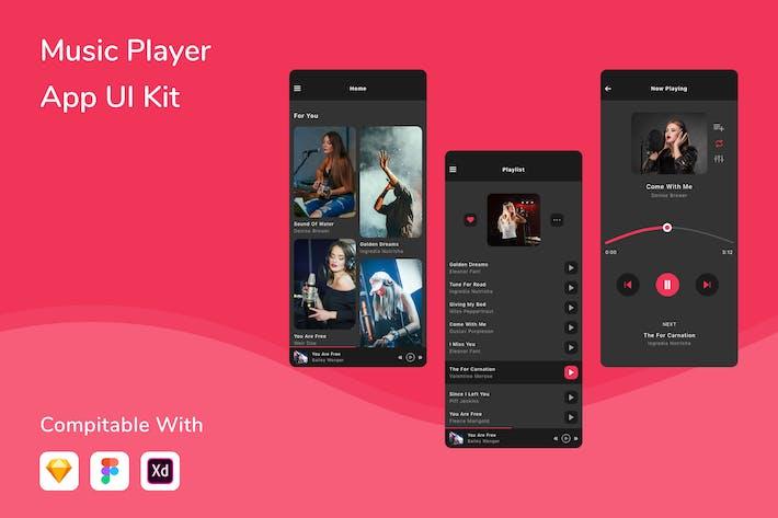 Thumbnail for Music Player App UI Kit