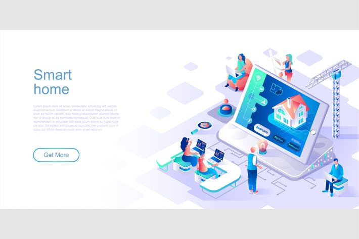Thumbnail for Smart Home Isometric Flat Concept Header