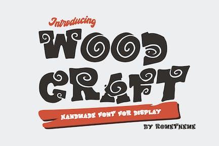 Wood Craft - Handmade Display Font RG