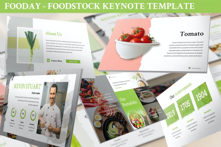 Thumbnail for Fooday - Foodstock Keynote Template