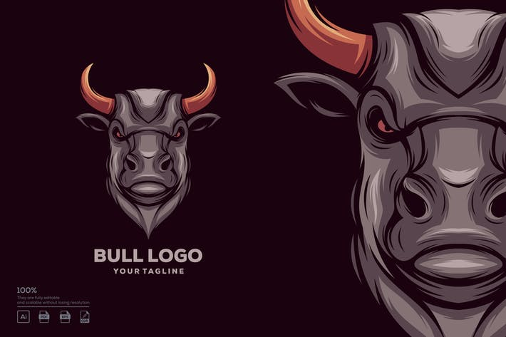 Thumbnail for Bull logo design
