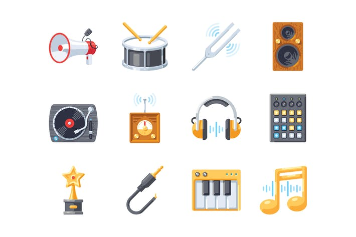 Thumbnail for Music icon set