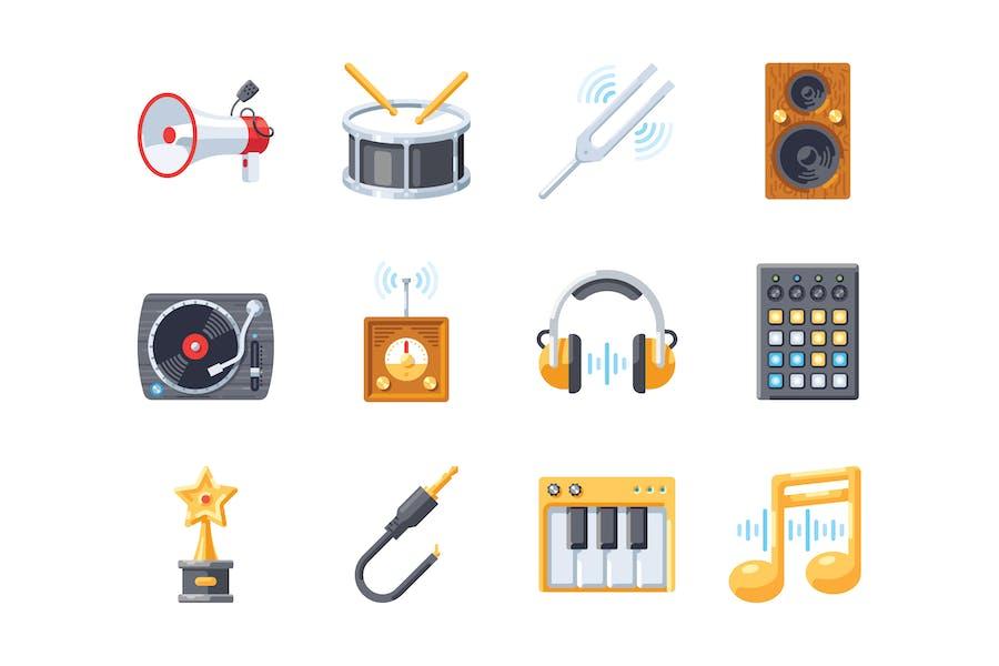 Musik-Symbol-Set