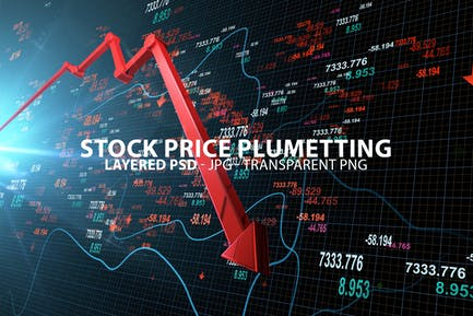 Bajando los precios de las acciones