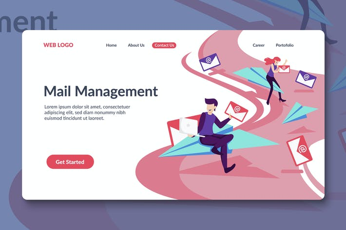 Thumbnail for Email Service Landing Page Template