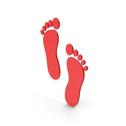 Symbol Footprint Red