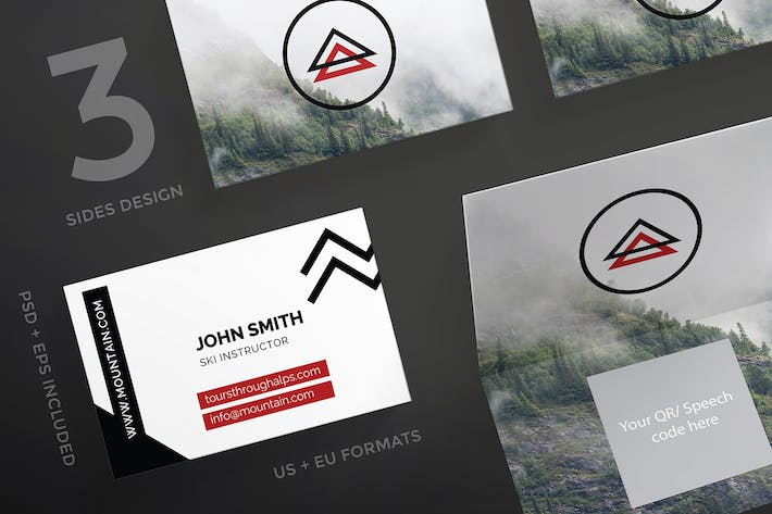 Thumbnail for Mountain Tours Business Card Template