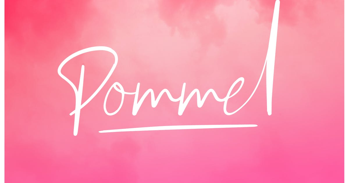 Download Pommel - Handstylish Font by craftsupplyco
