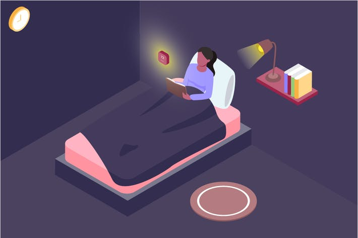 Thumbnail for Automatic Bedroom Isometric Illustration