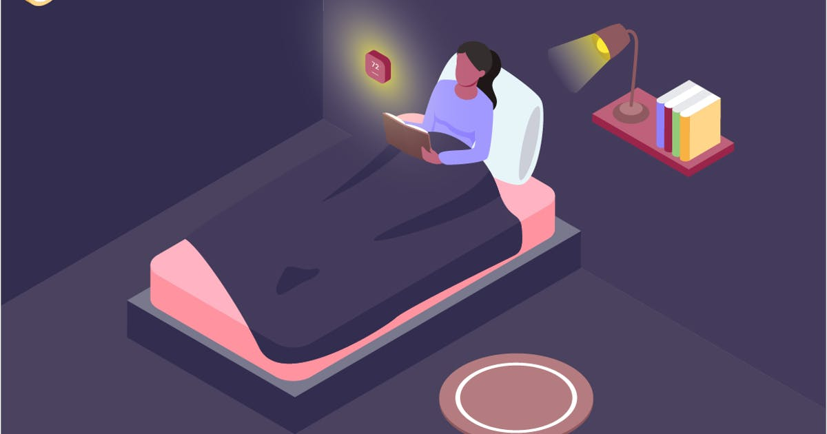 Automatic Bedroom Isometric Illustration by angelbi88
