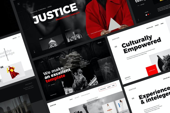 Thumbnail for JUSTICE - Powerpoint Creative Business Marketing