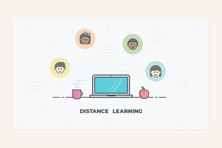 Distance Learning illustration