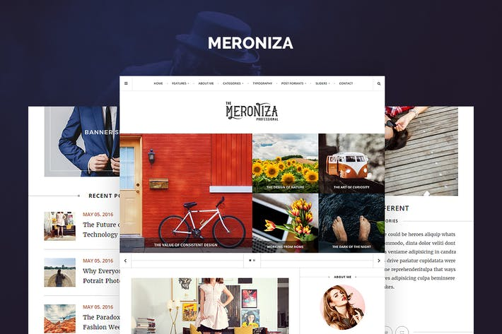 Thumbnail for Meroniza - Elegant Tumblr Theme