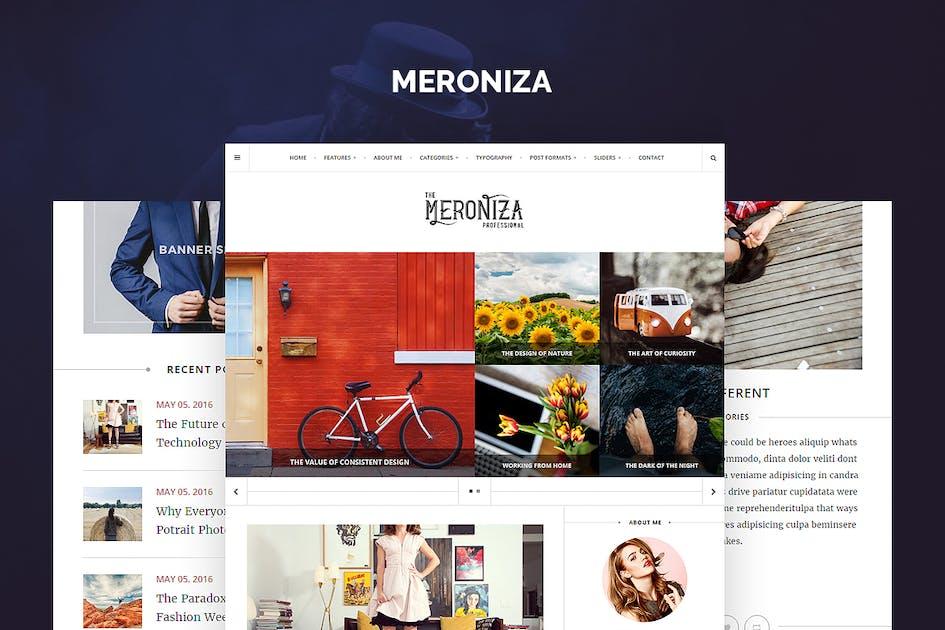 Download Meroniza - Elegant Tumblr Theme by StringLabs