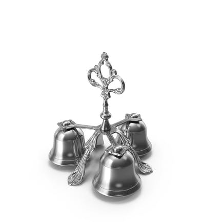 Three Sound Silver Handbell