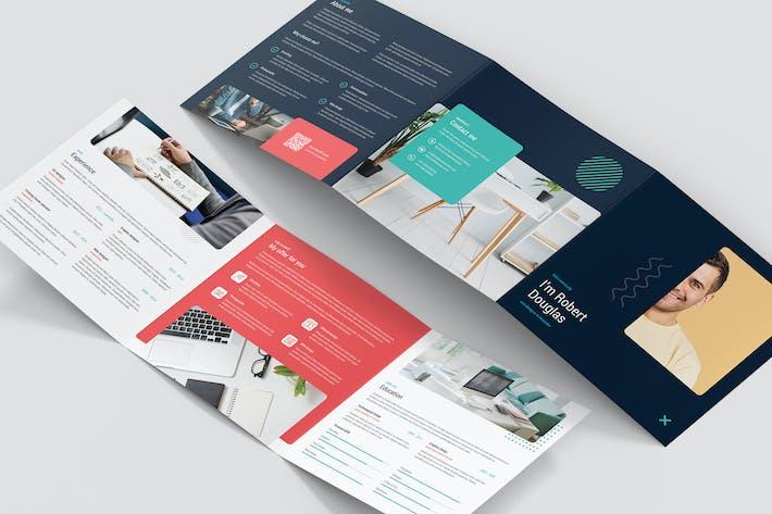 Thumbnail for Brochure – Resume Tri-Fold Square