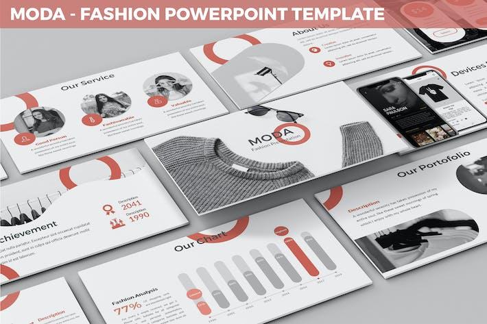 Thumbnail for Moda - Fashion Powerpoint Template