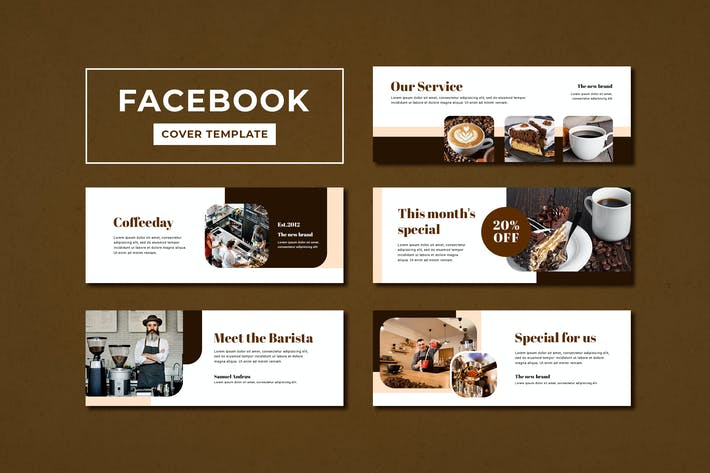 Thumbnail for Facebook Cover Template Coffee Shop