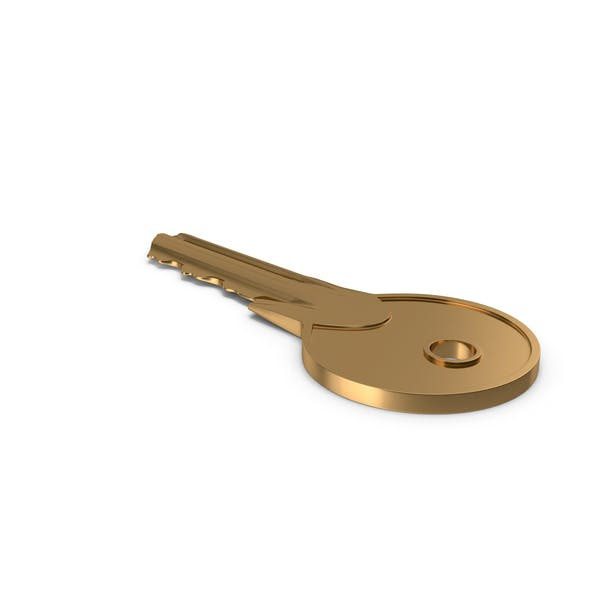 Türschlüssel Golden auf Boden
