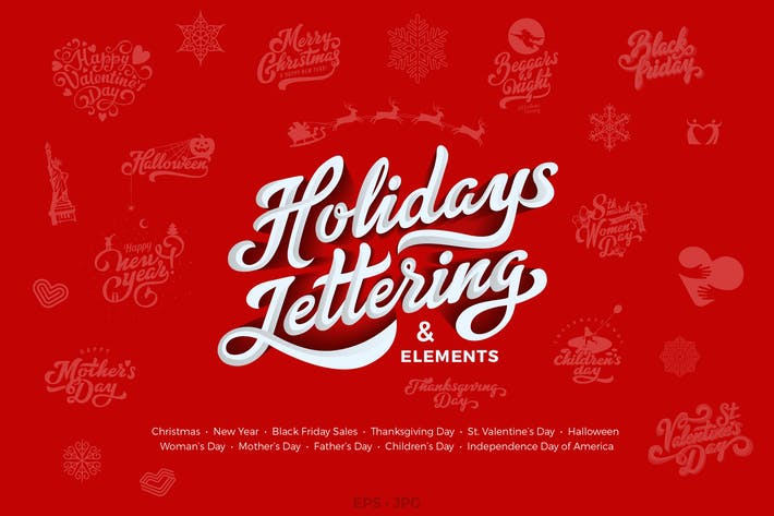 Thumbnail for Holidays Lettering Design