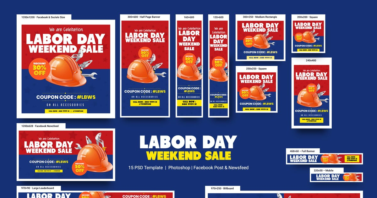 Download Labor Day Weekend Sale Banners Ad by YummyDs