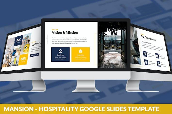 Thumbnail for Mansion - Hospitality Google Slides Template