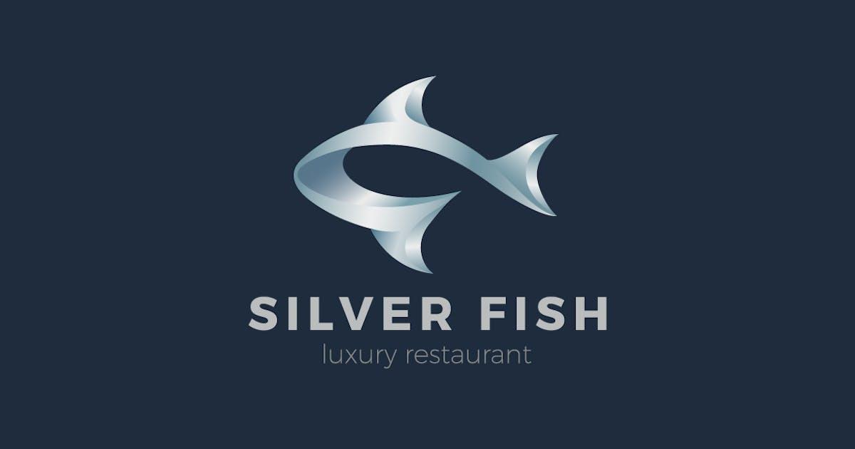 Logo Metal Fish Seafood emblem by Sentavio