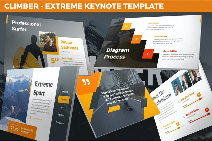 Thumbnail for Climber - Extreme Keynote Template