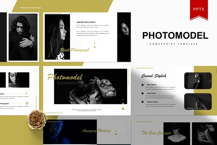 Thumbnail for Photomodel | Powerpoint Template