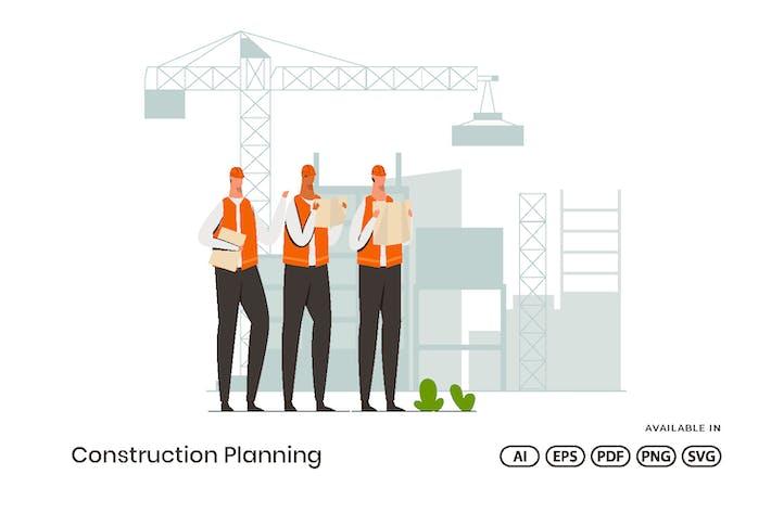 Thumbnail for Construction Planning Illustration