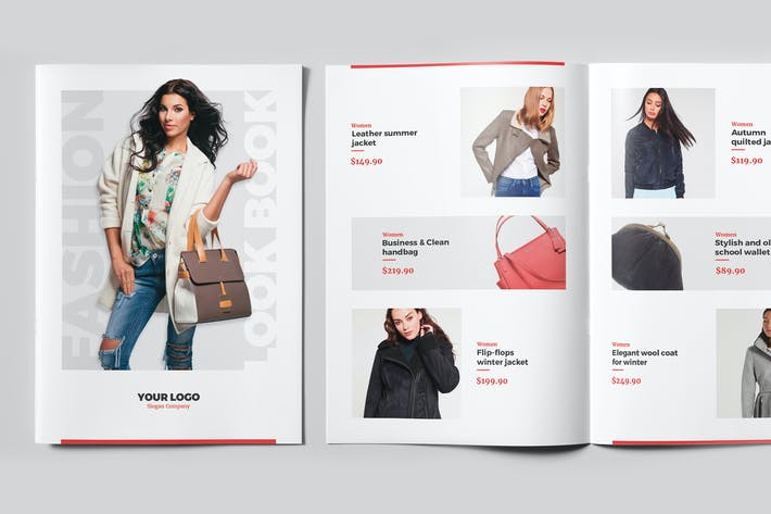 Thumbnail for Newsletter – Fashion Look Book Bi-Fold