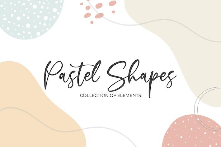 Pastellformen und Elemente
