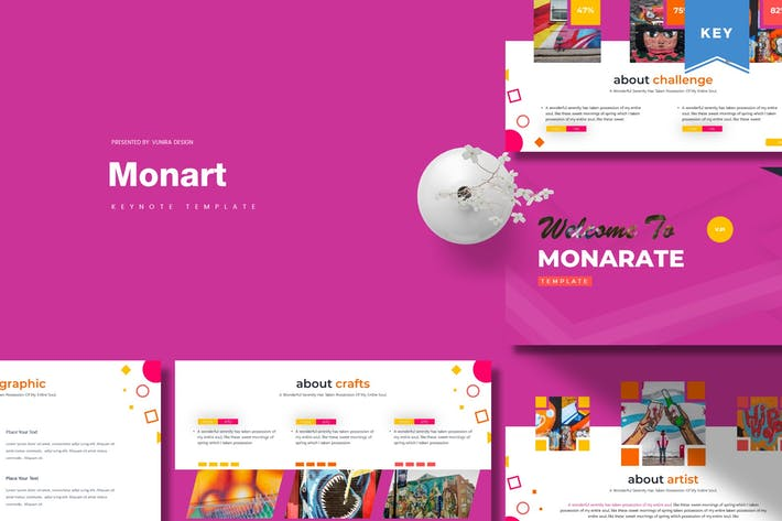 Thumbnail for Monart | Шаблон Keynote